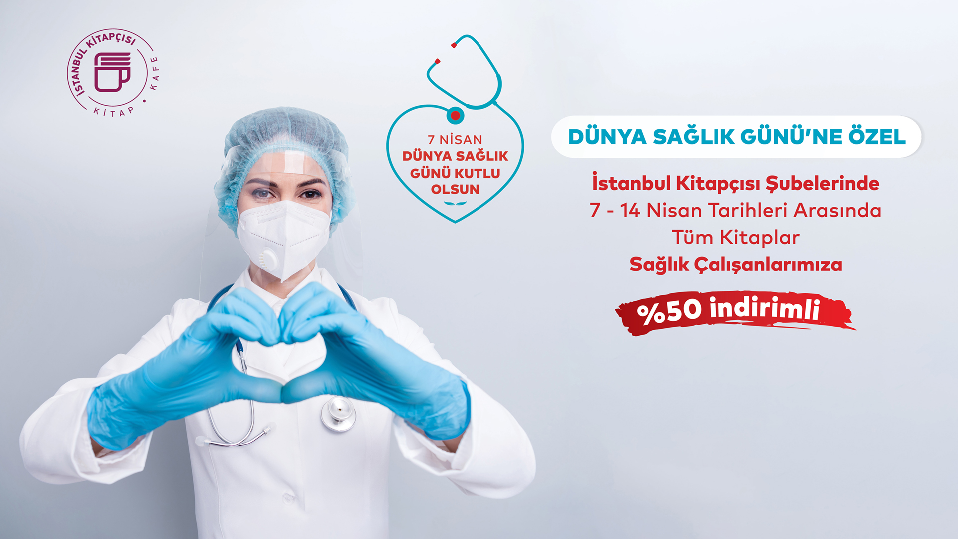 İstanbul Kitapçısı'ndan Dünya Sağlık Günü'ne özel kampanya!