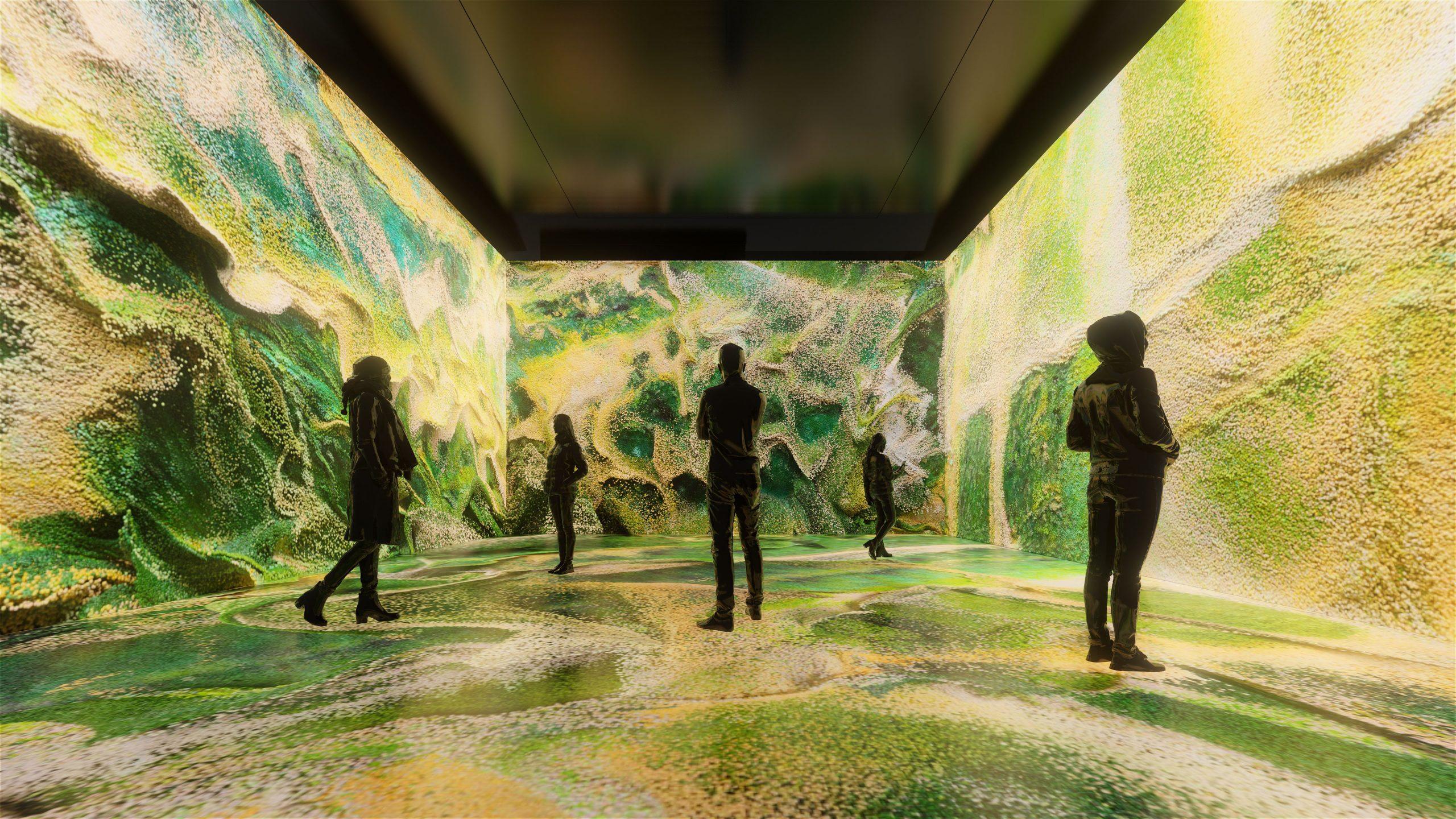 """Refik Anadol'un """"Makine Hatıraları: Uzay"""" sergisi herkesin ziyaretine açılıyor"""