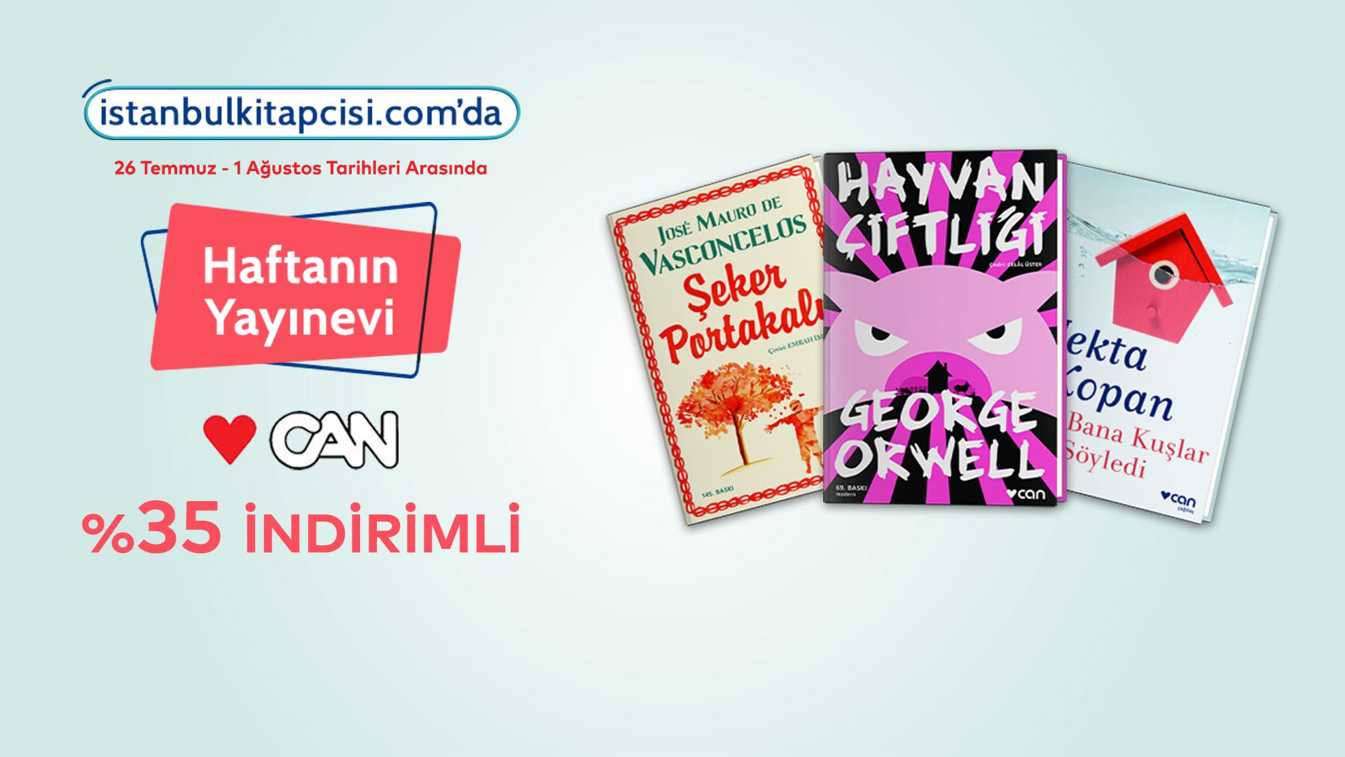 Can Yayınları, www.istanbulkitapcisi.com'da indirimde!