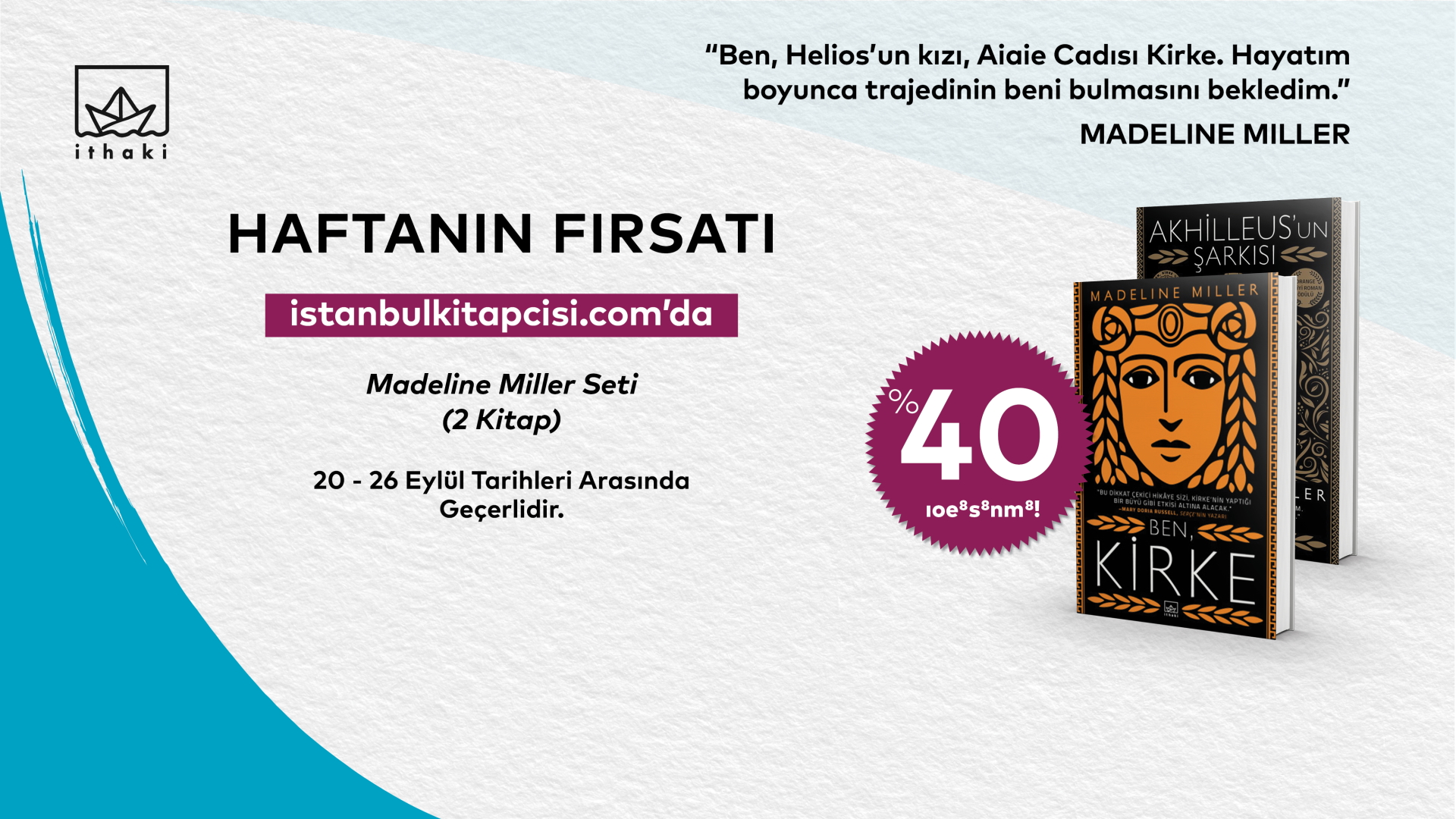 Madeline Miller seti, www.istanbulkitapcisi.com'da %40 indirimde!