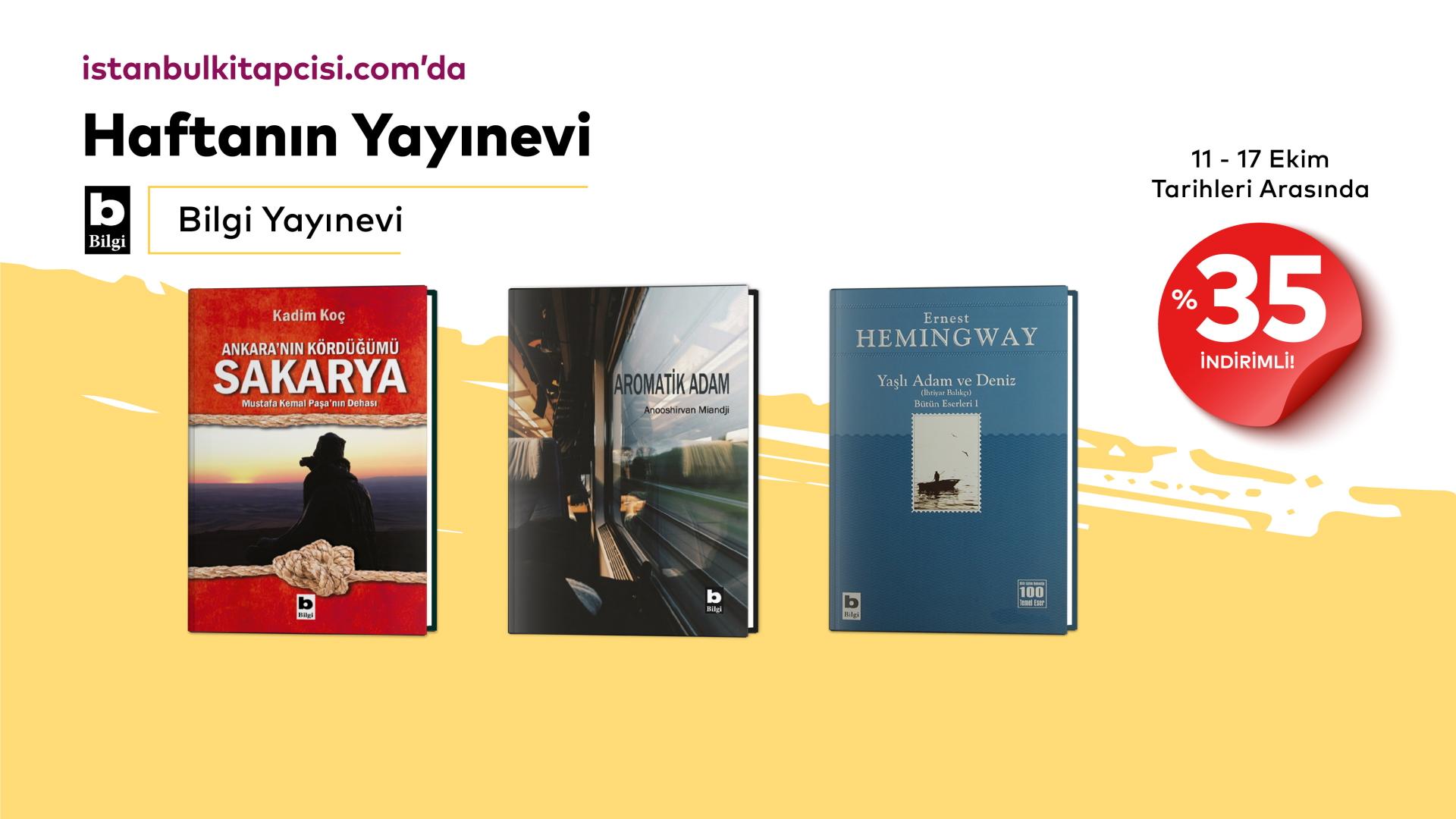 Bilgi Yayınevi'nin tüm kitapları, www.istanbulkitapcisi.com'da %35 indirimde!